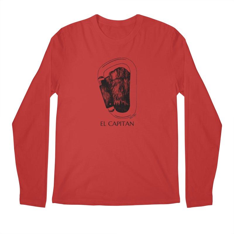 Climb El Capitan Men's Longsleeve T-Shirt by Mike Petzold's Artist Shop