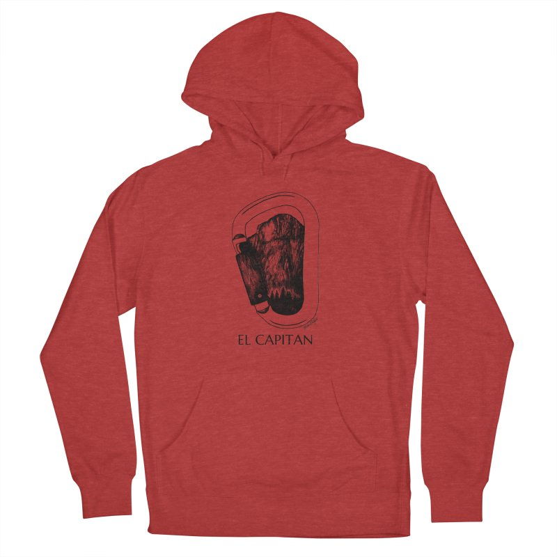 Climb El Capitan Men's French Terry Pullover Hoody by Mike Petzold's Artist Shop
