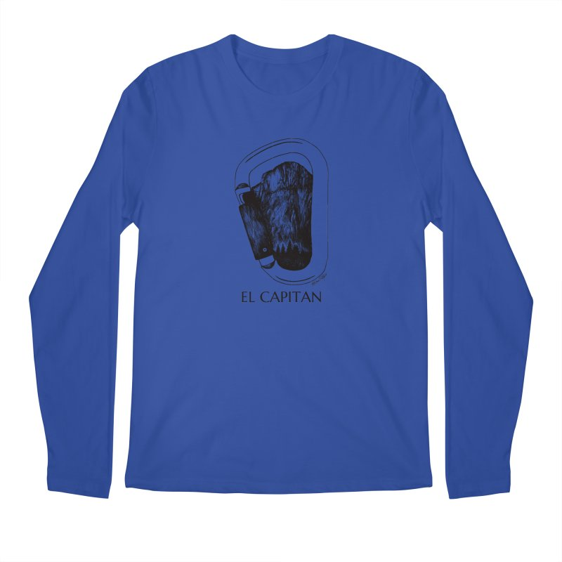 Climb El Capitan Men's Regular Longsleeve T-Shirt by Mike Petzold's Artist Shop