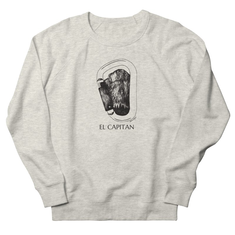 Climb El Capitan Men's French Terry Sweatshirt by MikePetzold's Artist Shop