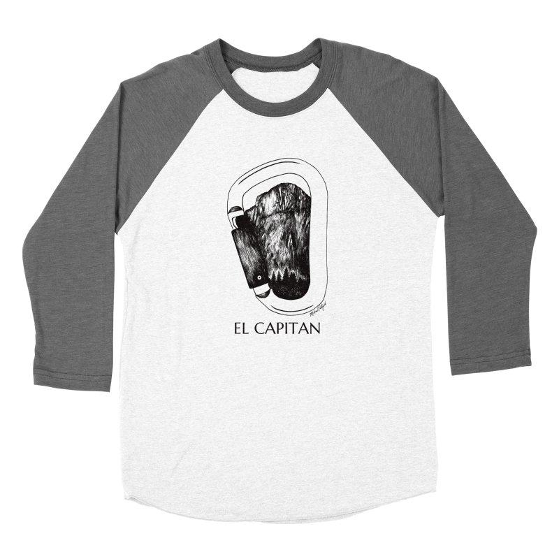 Climb El Capitan Women's Baseball Triblend Longsleeve T-Shirt by MikePetzold's Artist Shop