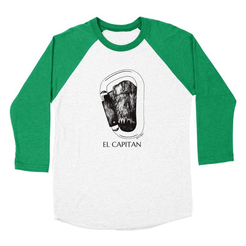 Climb El Capitan Women's Baseball Triblend Longsleeve T-Shirt by Mike Petzold's Artist Shop