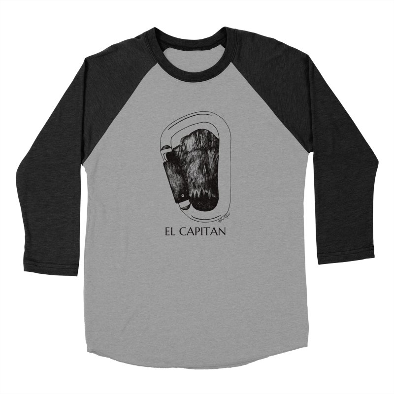Climb El Capitan Women's Baseball Triblend Longsleeve T-Shirt by Mike Petzold's Artist Shop