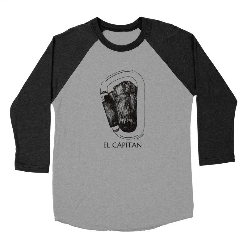Climb El Capitan Men's Baseball Triblend Longsleeve T-Shirt by Mike Petzold's Artist Shop