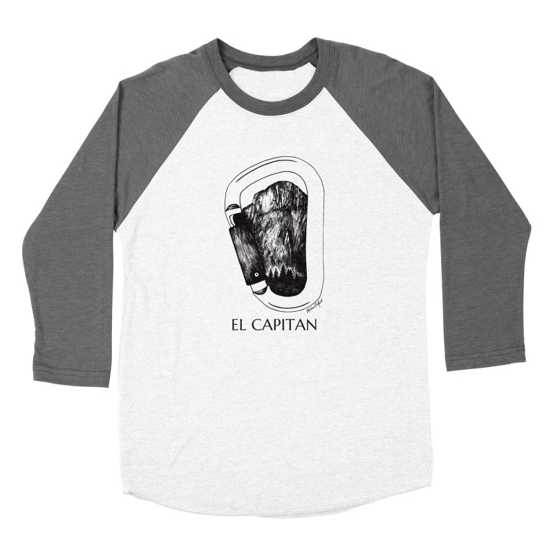 Climb El Capitan Men's Baseball Triblend Longsleeve T-Shirt by Mike Petzold's Artist Shop