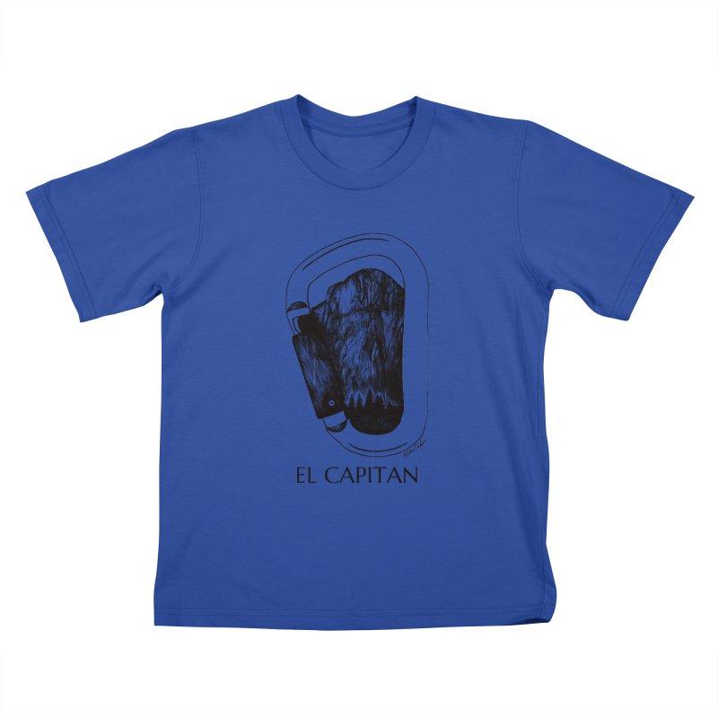 Climb El Capitan Kids T-Shirt by Mike Petzold's Artist Shop