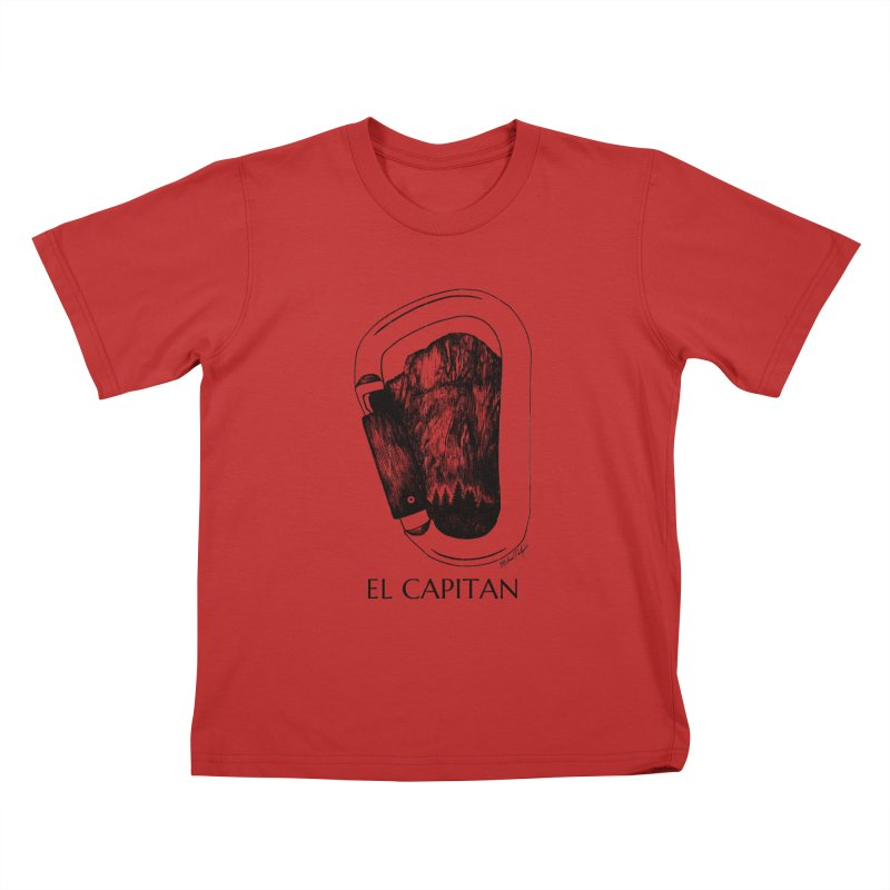 Climb El Capitan Kids T-Shirt by MikePetzold's Artist Shop