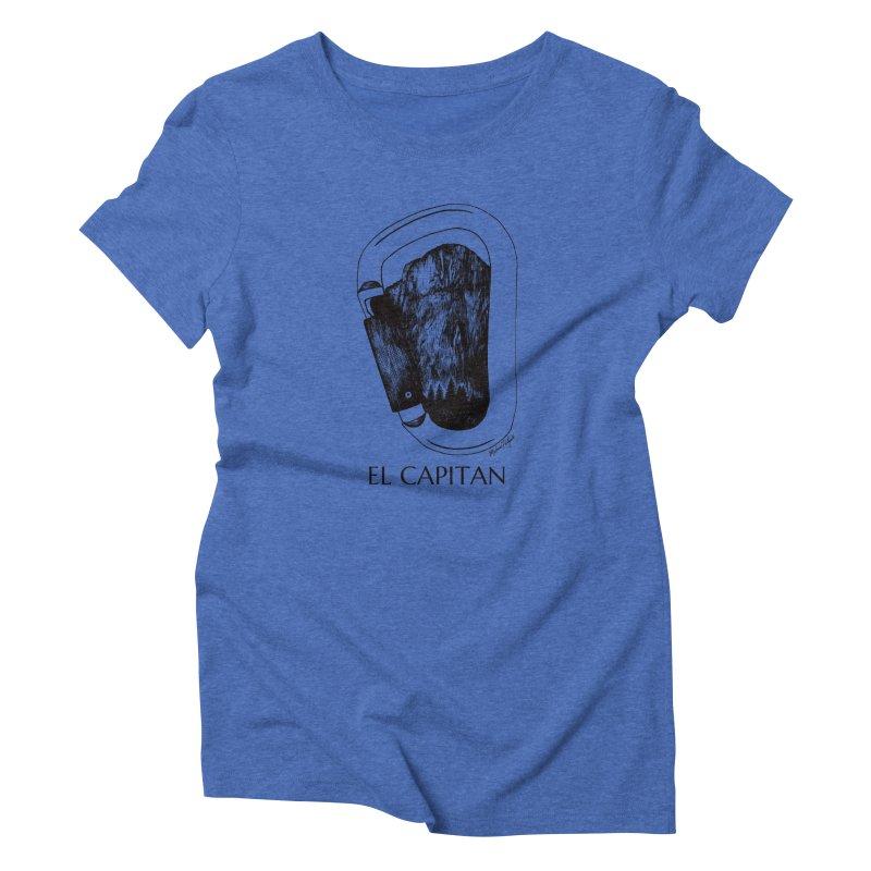 Climb El Capitan Women's Triblend T-Shirt by Mike Petzold's Artist Shop