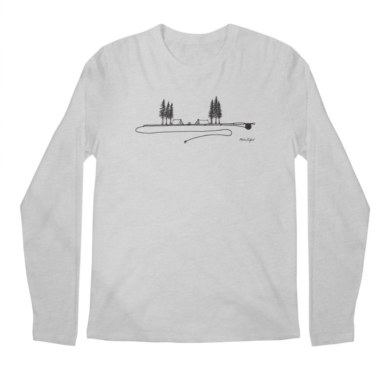 Camping on the Fly Men's Regular Longsleeve T-Shirt by Mike Petzold's Artist Shop