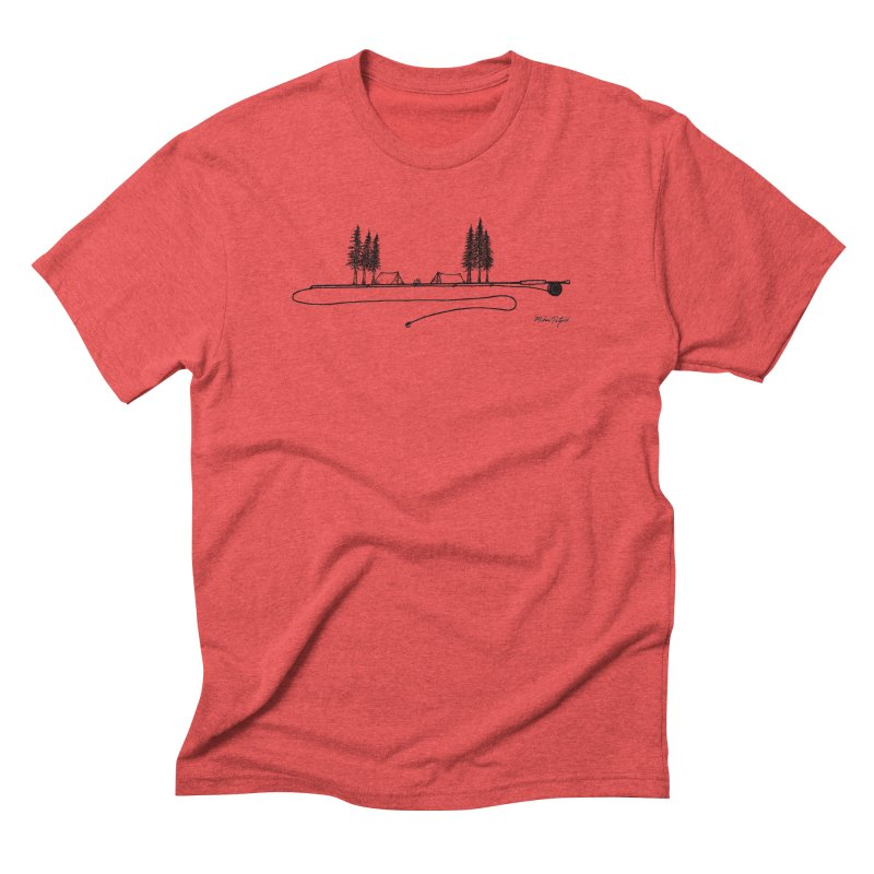 Camping on the Fly Men's Triblend T-Shirt by Mike Petzold's Artist Shop