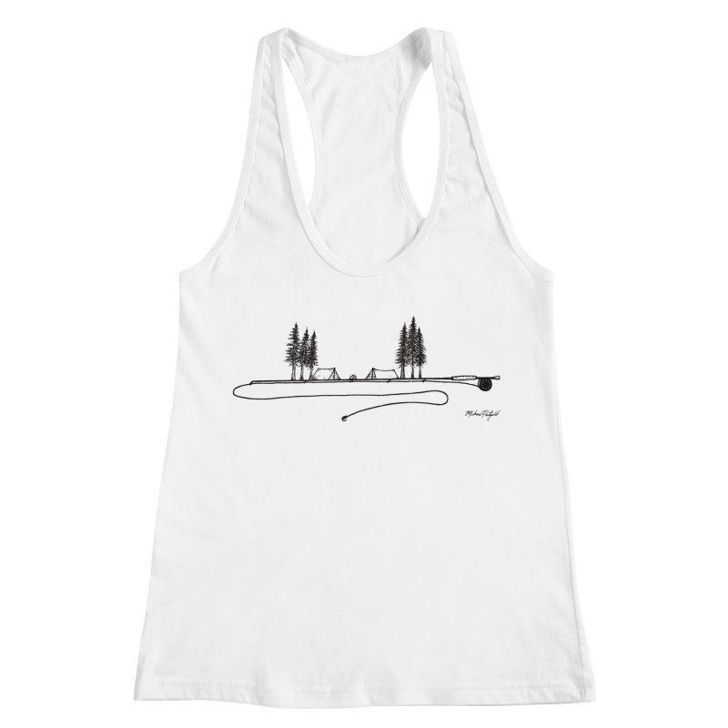 Camping on the Fly Women's Racerback Tank by Mike Petzold's Artist Shop
