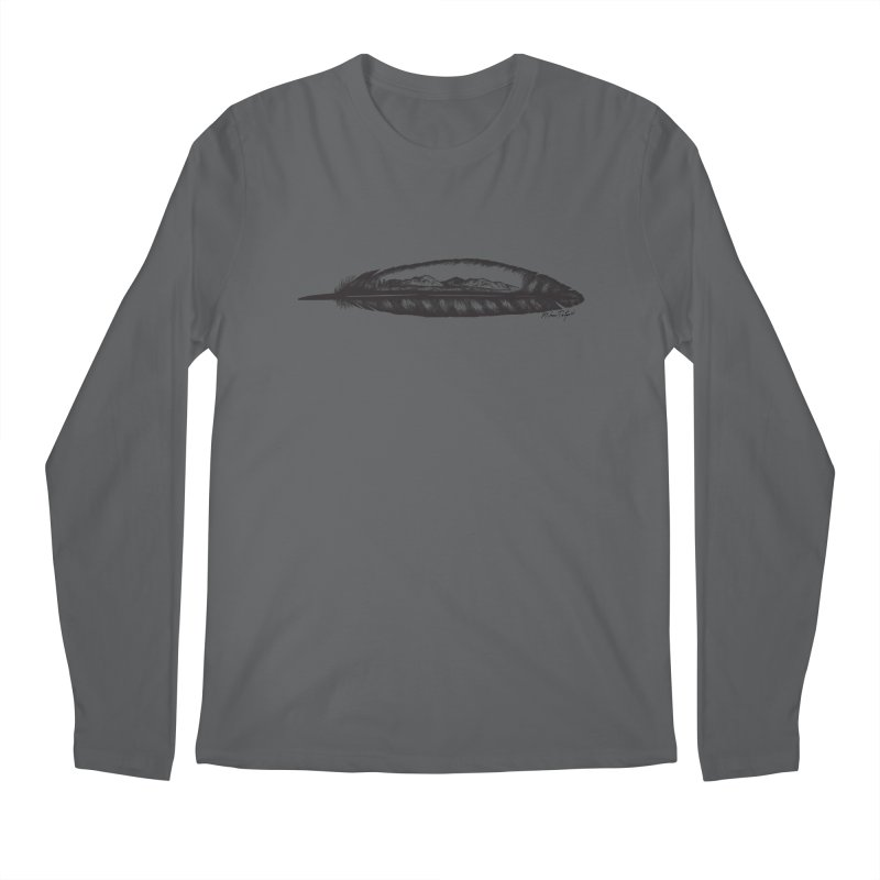 Feather Mountain Men's Longsleeve T-Shirt by Mike Petzold's Artist Shop