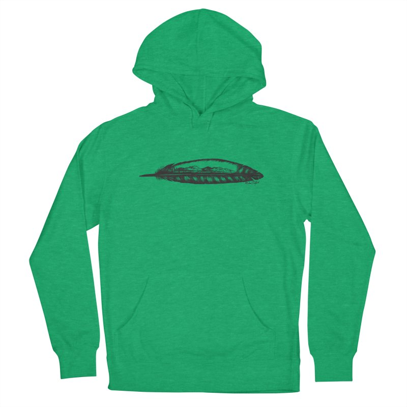 Feather Mountain Men's French Terry Pullover Hoody by Mike Petzold's Artist Shop