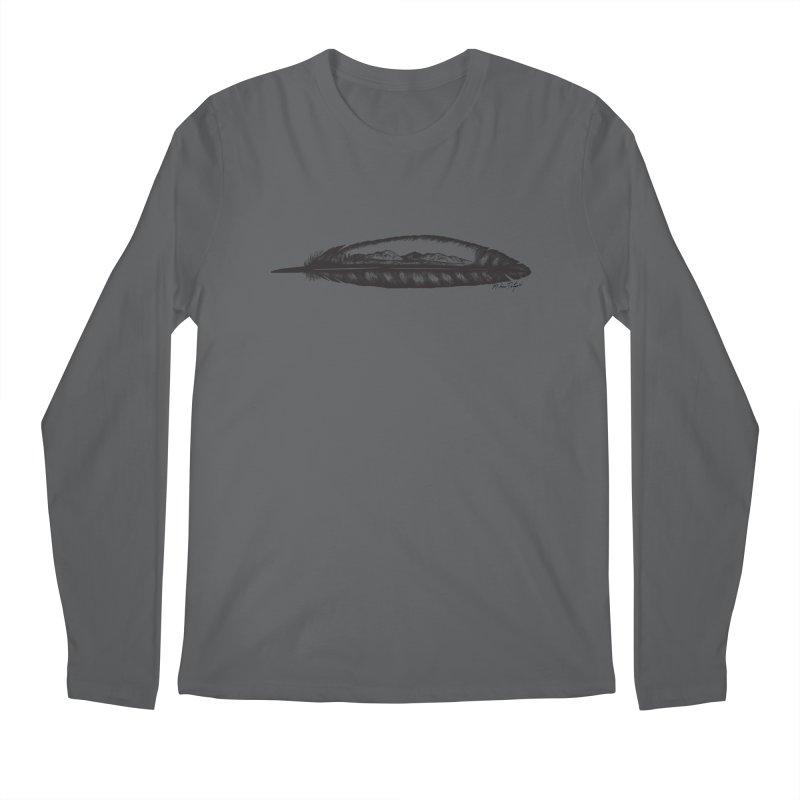 Feather Mountain Men's Regular Longsleeve T-Shirt by Mike Petzold's Artist Shop