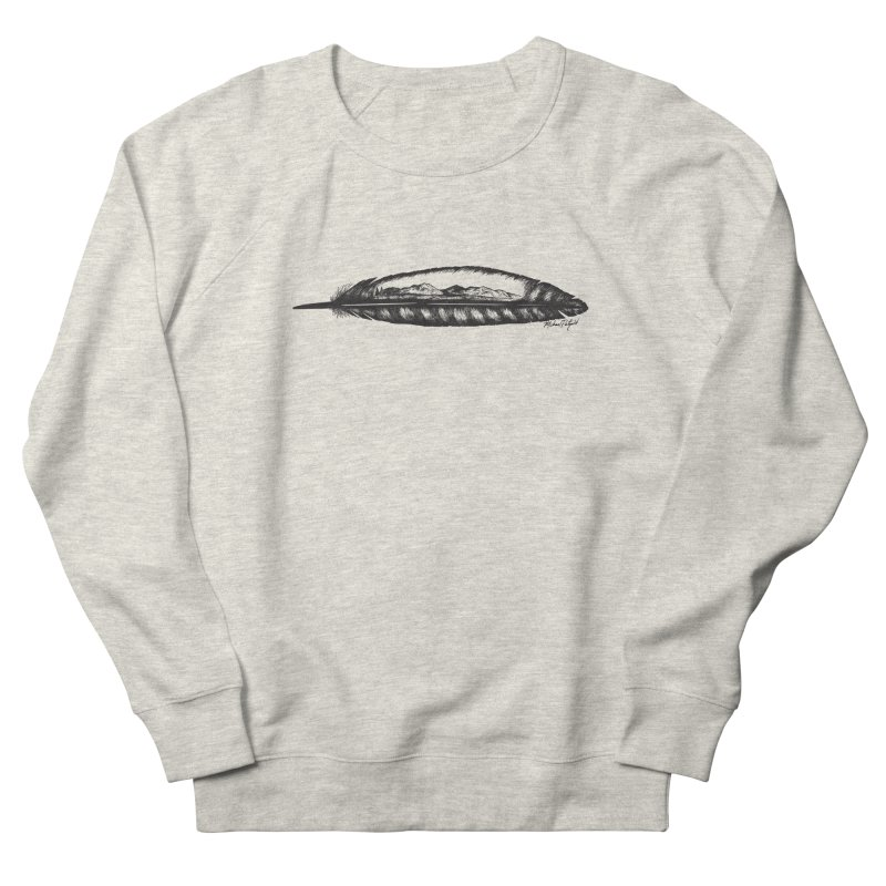 Feather Mountain Men's French Terry Sweatshirt by Mike Petzold's Artist Shop