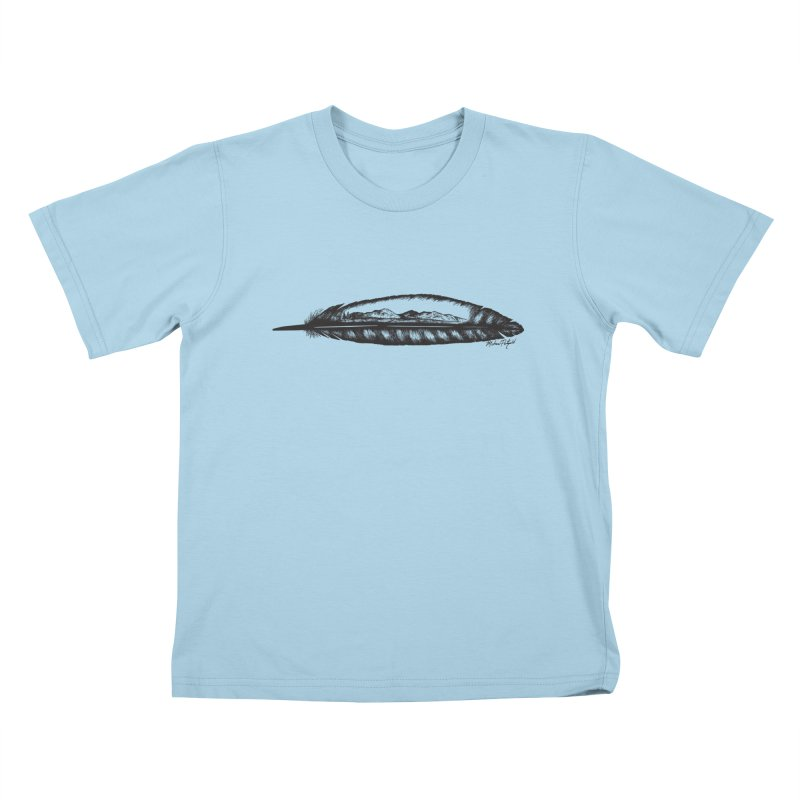Feather Mountain Kids T-Shirt by Mike Petzold's Artist Shop