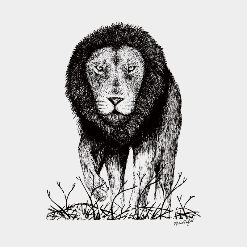 Lion Men's T-Shirt by Mike Petzold's Artist Shop