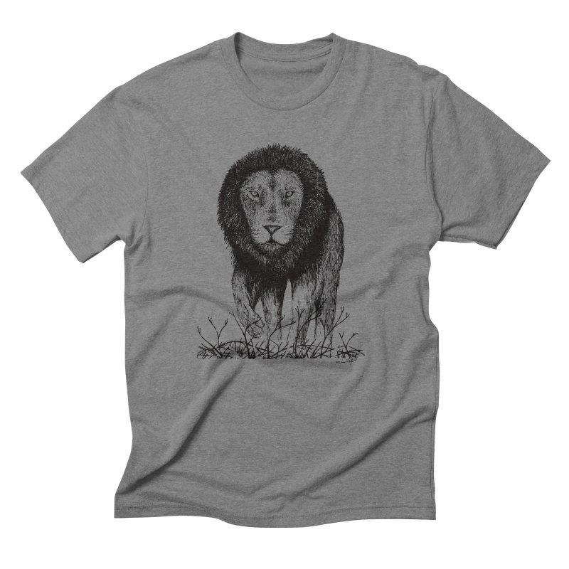 Lion Men's T-Shirt by Mike Petzold's Artist Shop