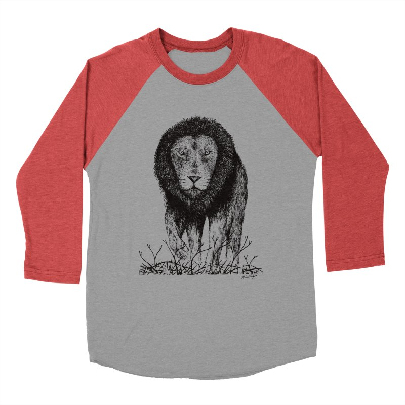Lion Men's Longsleeve T-Shirt by Mike Petzold's Artist Shop