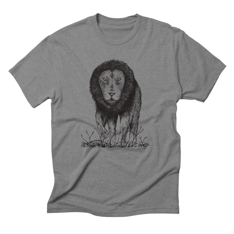 Lion Men's Triblend T-Shirt by MikePetzold's Artist Shop