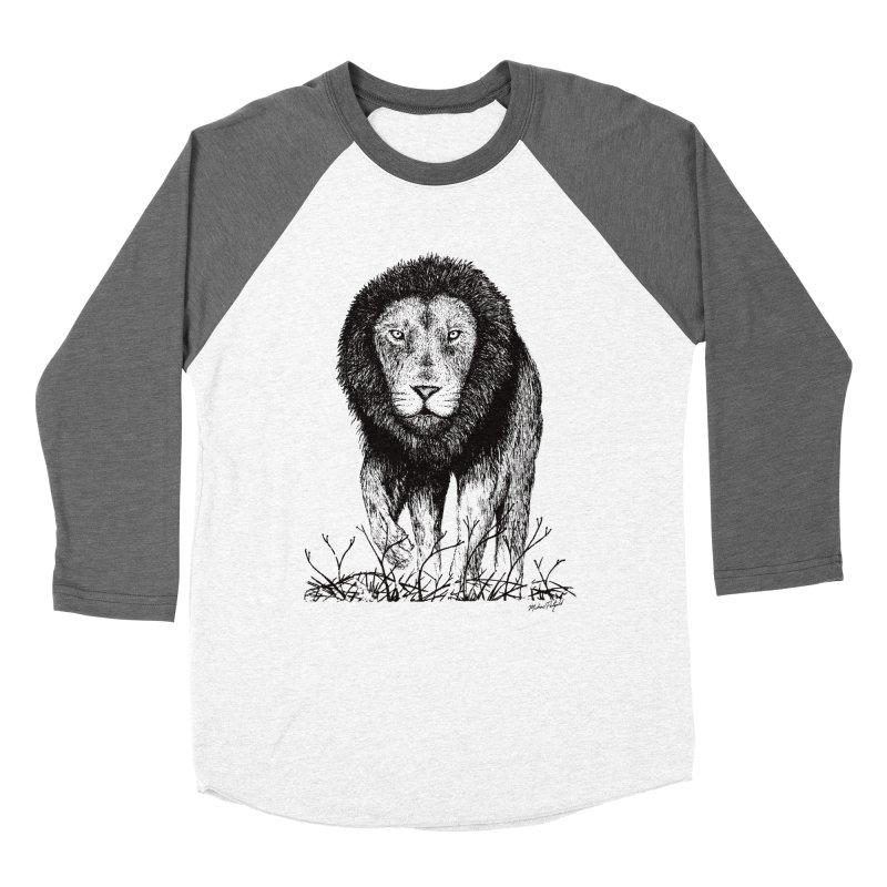 Lion Women's Baseball Triblend Longsleeve T-Shirt by MikePetzold's Artist Shop