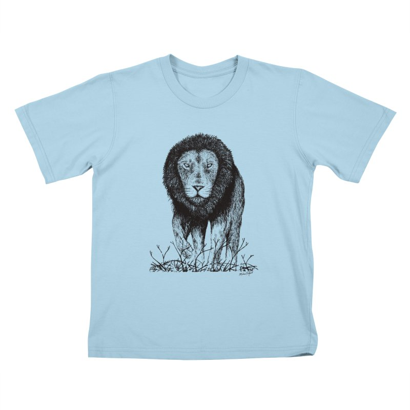 Lion Kids T-Shirt by Mike Petzold's Artist Shop