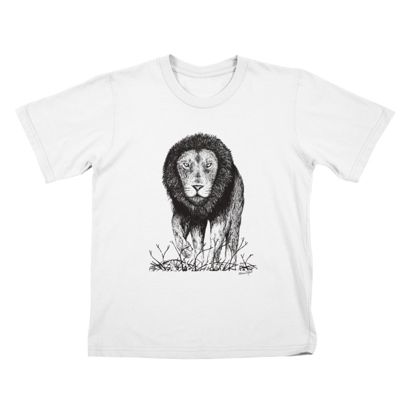 Lion Kids T-Shirt by MikePetzold's Artist Shop