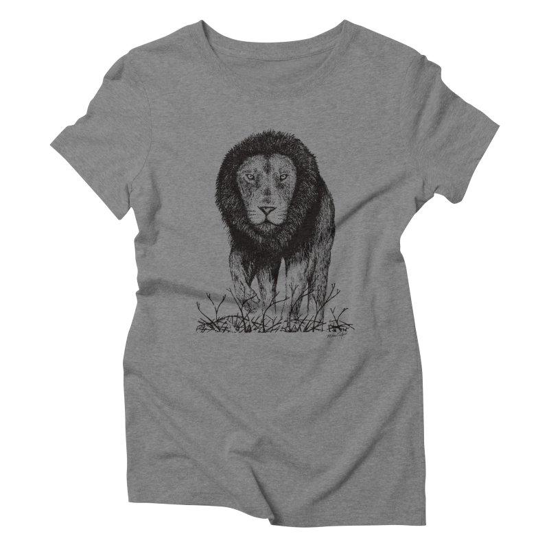 Lion Women's Triblend T-Shirt by Mike Petzold's Artist Shop