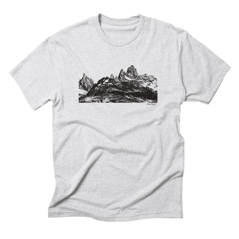 Fitz Roy in Men's Triblend T-Shirt Heather White by Mike Petzold's Artist Shop