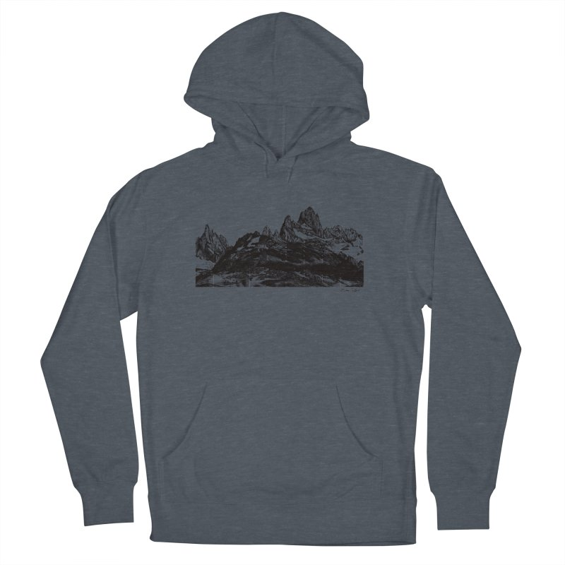 Fitz Roy Men's French Terry Pullover Hoody by Mike Petzold's Artist Shop