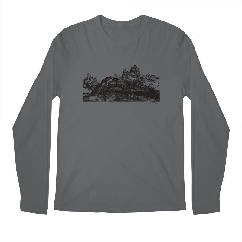 Fitz Roy Men's Regular Longsleeve T-Shirt by Mike Petzold's Artist Shop