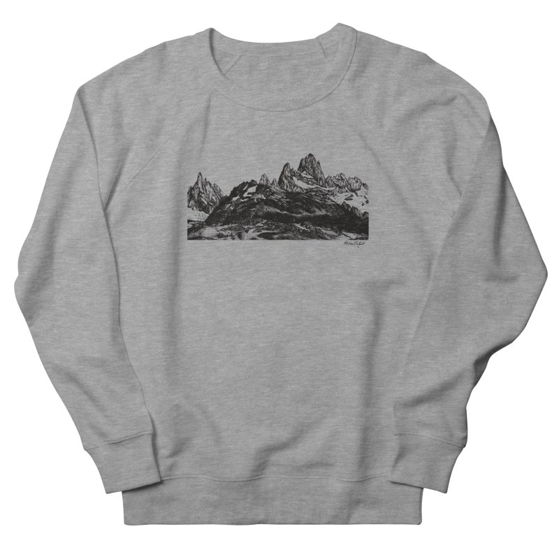 Fitz Roy Men's French Terry Sweatshirt by MikePetzold's Artist Shop