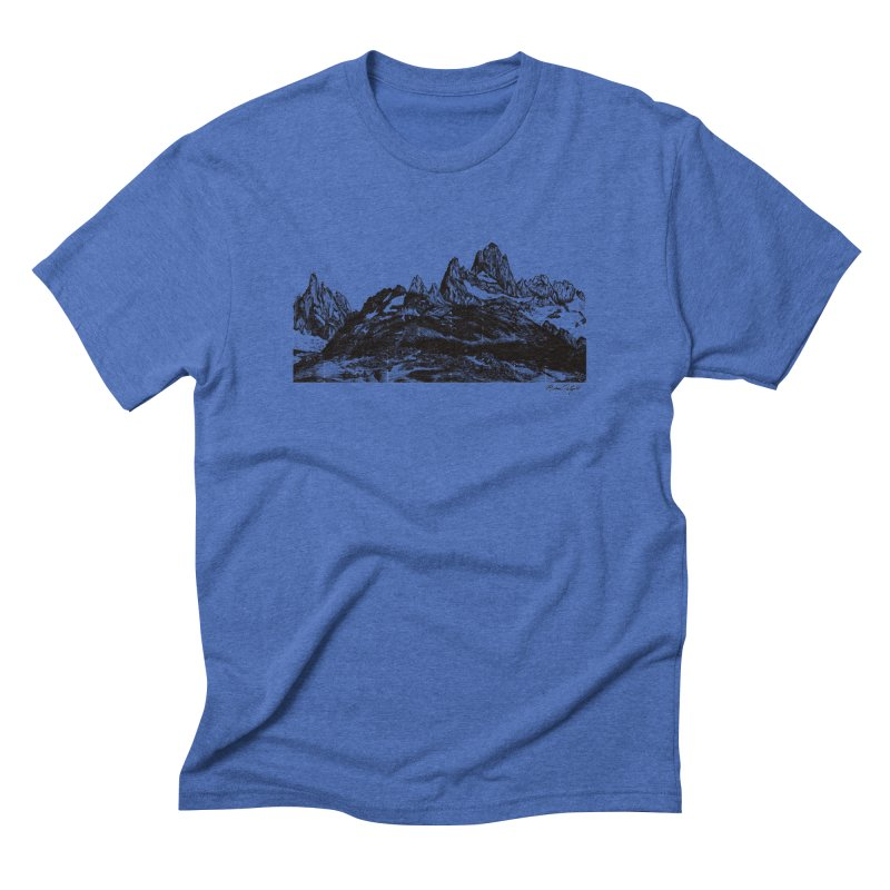 Fitz Roy Men's Triblend T-Shirt by MikePetzold's Artist Shop
