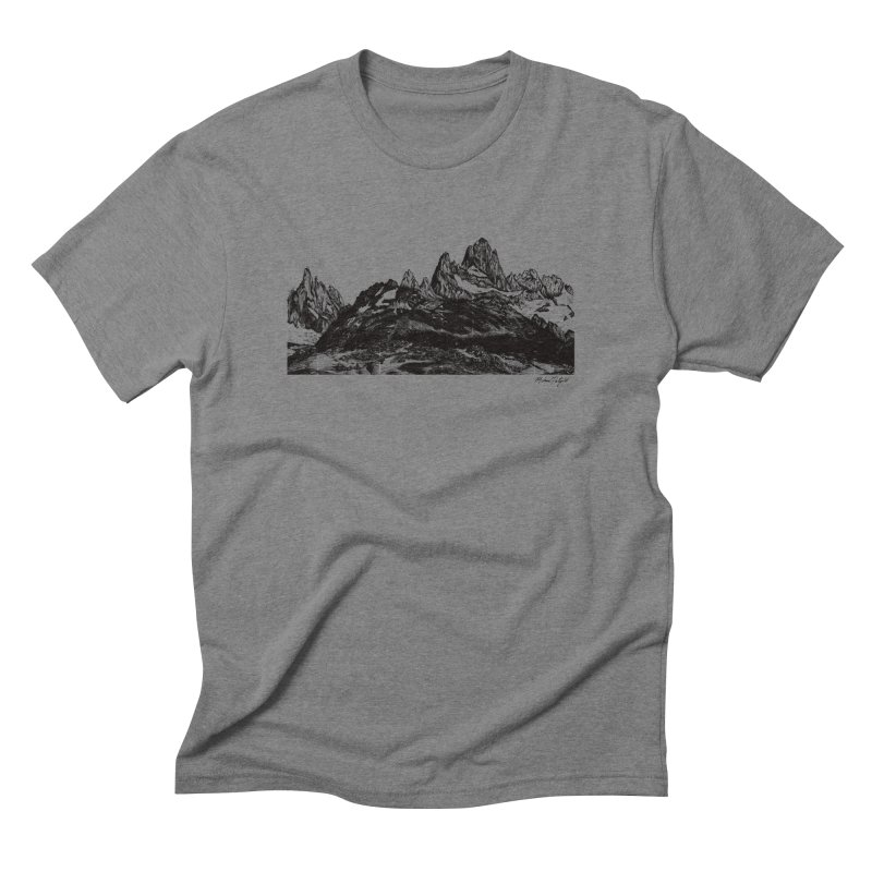 Fitz Roy Men's T-Shirt by Mike Petzold's Artist Shop