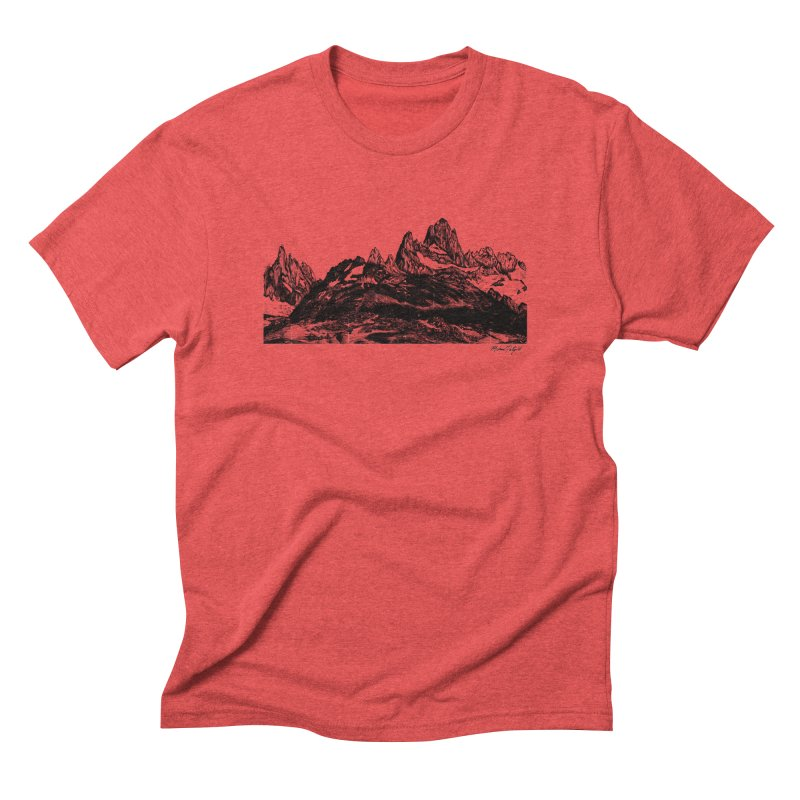 Fitz Roy Men's Triblend T-Shirt by Mike Petzold's Artist Shop