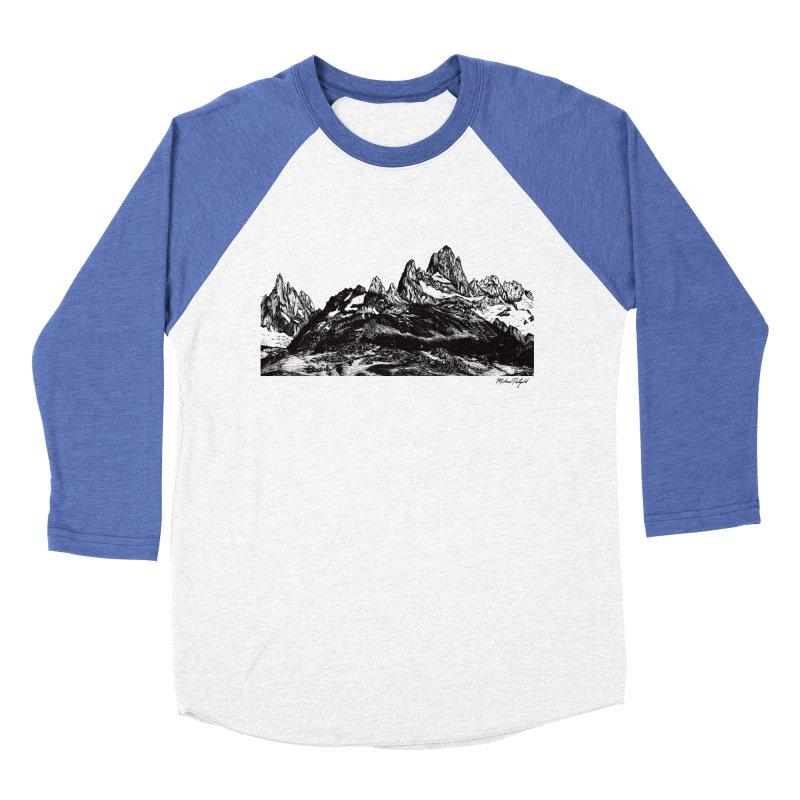 Fitz Roy Men's Baseball Triblend Longsleeve T-Shirt by MikePetzold's Artist Shop