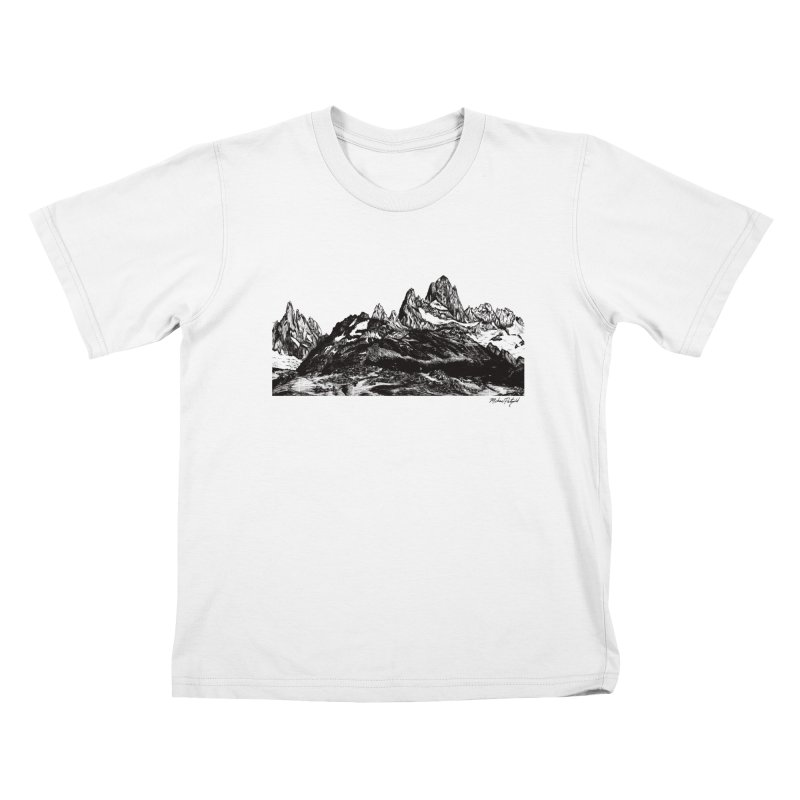 Fitz Roy Kids T-Shirt by Mike Petzold's Artist Shop