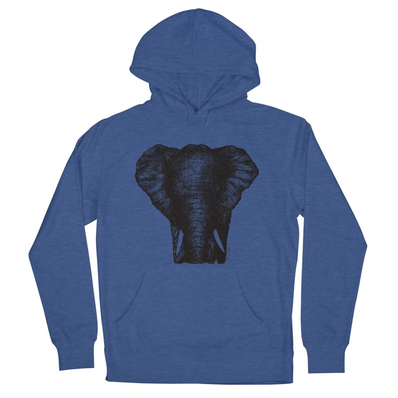 African Elephant Men's Pullover Hoody by Mike Petzold's Artist Shop