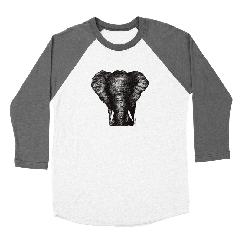 African Elephant Women's Longsleeve T-Shirt by Mike Petzold's Artist Shop