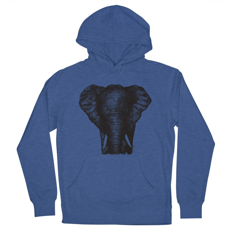 African Elephant Men's French Terry Pullover Hoody by Mike Petzold's Artist Shop