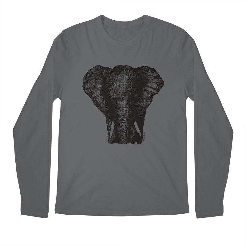 African Elephant Men's Regular Longsleeve T-Shirt by Mike Petzold's Artist Shop