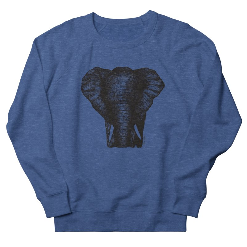 African Elephant Women's French Terry Sweatshirt by Mike Petzold's Artist Shop