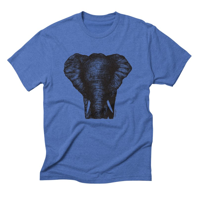 African Elephant Men's Triblend T-Shirt by MikePetzold's Artist Shop