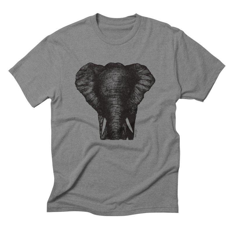 African Elephant Men's Triblend T-Shirt by Mike Petzold's Artist Shop
