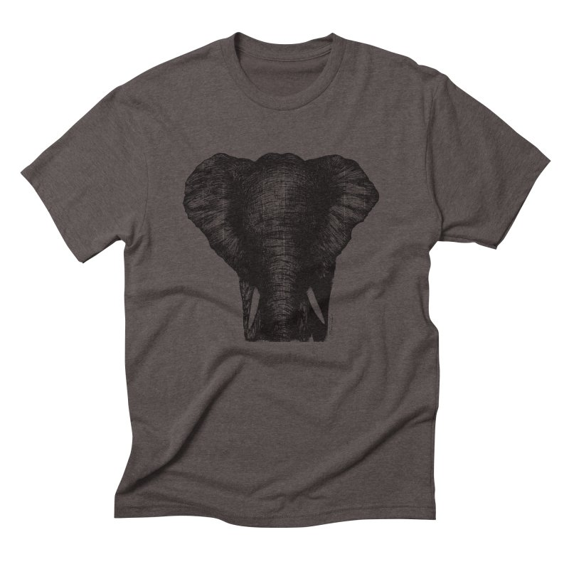 African Elephant Men's Triblend T-Shirt by Mike Petzold's Artist Shop