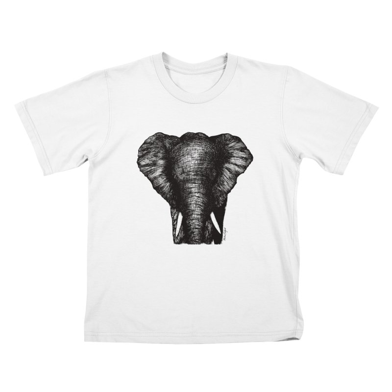 African Elephant Kids T-Shirt by Mike Petzold's Artist Shop