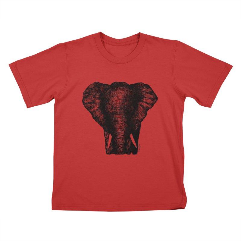 African Elephant Kids T-Shirt by Mike Petzold's Artist Shop