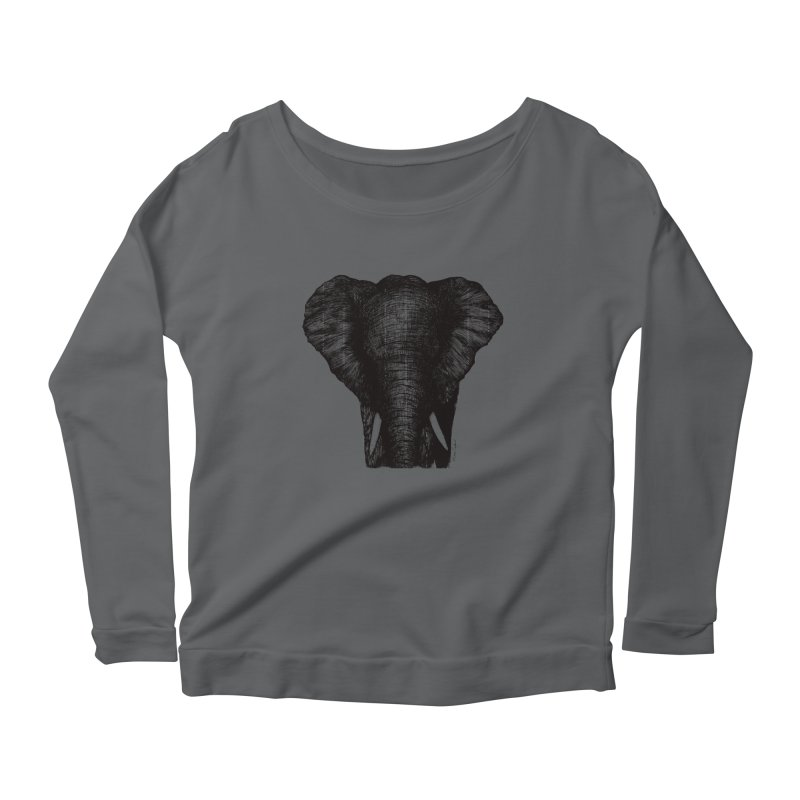 African Elephant Women's Longsleeve T-Shirt by Mike Petzold's Artist Shop