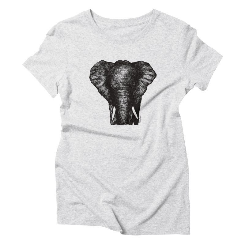 African Elephant Women's T-Shirt by Mike Petzold's Artist Shop