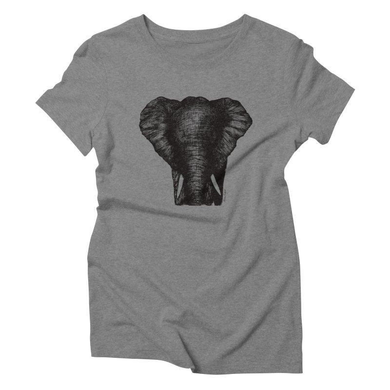 African Elephant Women's Triblend T-Shirt by MikePetzold's Artist Shop